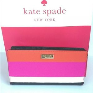 KATE SPADE STACY LAUREL WAY BONITA STRIPE WALLET